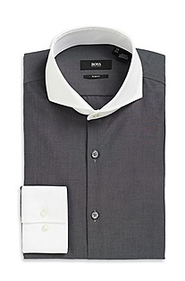 'Johan' | Slim Fit, Extreme Spread Collar Dress Shirt
