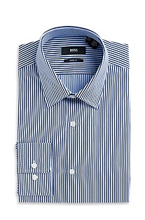 'Marlow US' | Sharp Fit, Spread Collar Striped Dress Shirt