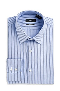 'Gulio US' | Classic Fit, Point Collar Striped Dress Shirt
