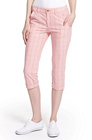 'Holi' | Stretch-Cotton Plaid Casual Pant