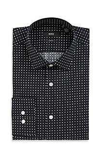 'Jenno' | Slim Fit, Spread Collar Polka Dot Dress Shirt