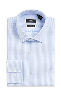 'Jenno' | Slim Fit, Modified Point Collar Dress Shirt