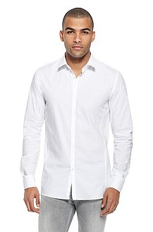 'Enin' | Slim Fit, Stretch-Cotton Casual Shirt