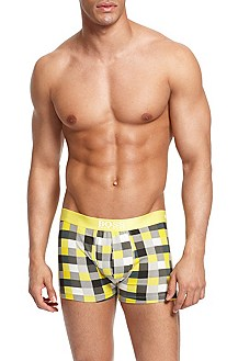 'Innovation Boxer BM' | Stretch Cotton Check Trunk