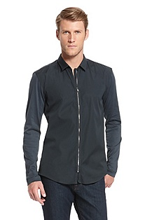 'Ender' | Slim Fit, Cotton Casual Shirt