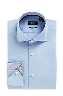 'Eraldin' | Classic Fit, Spread Collar Dress Shirt