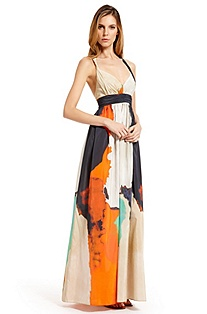 'Avenna1-W' | Cotton-Silk Maxi Dress