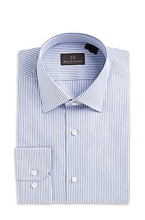 'Stirling' | Classic Fit, Kent Collar Striped Dress Shirt