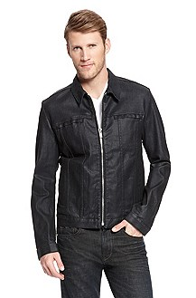 'Hugo 051' | Slim Fit, Stretch-Cotton Denim Jacket