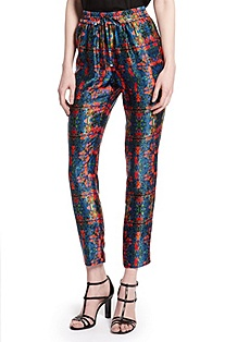 'Hesani' | Silk Patterned Casual Pant