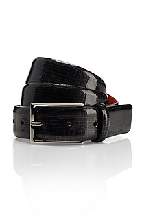 'Gustafo' | ' | Snakeskin Printed Leather Belt