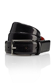 'Gustafo' | Snakeskin Printed Leather Belt