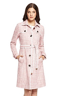 'Ceecile' | Stretch-Cotton Tweed Trench Coat