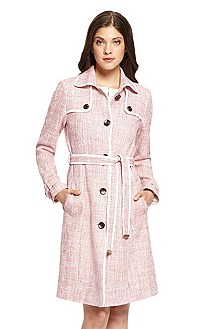 'Cecile' | Stretch-Cotton Tweed Trench Coat
