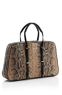 'Namia' | Python-Embossed Leather Handbag