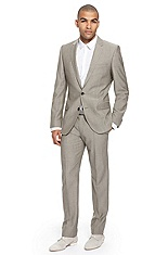'Amaro/Heise' | Slim Fit, Cotton Linen Suit