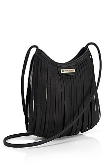 'Fayna' | Leather Fringed Crossbody Handbag