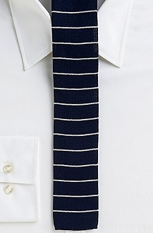 '5 cm Tie' | Extra Skinny, Cotton Knit Stripe