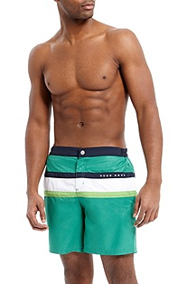 'Flagfish BM' | Striped Swim Trunks