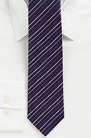 '7.5 cm Tie' | Slim, Silk 4-Color Stripe