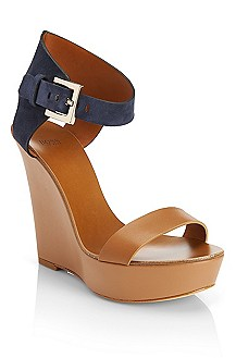 'Samoha' | Leather Wedge Sandal