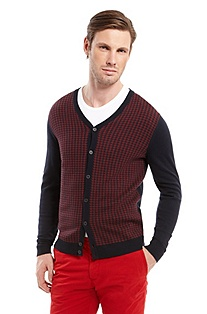 'Gilbit' | Cotton-Blend Houndstooth Sweater