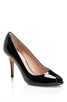 'Vanila' | Patent Leather Open Toe Pumps