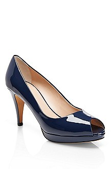 'Eldoral' | Patent Leather Open-Toe Pump