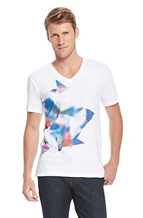 'Dind' | Slim Fit, Cotton Graphic T-Shirt
