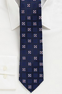 '7.5 cm Tie' | Slim, Silk Alternating Square Print