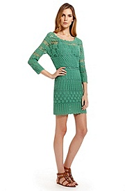 'Wanri' | Cotton-Blend Crochet Dress