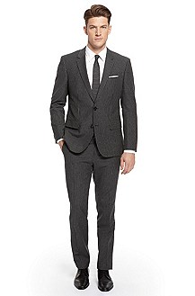 'Huge/Genius' | Slim Fit, Cotton-Wool Pinstripe Suit