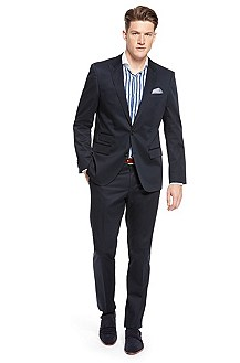 'Hold/Genius' | Slim Fit, Stretch Cotton Suit