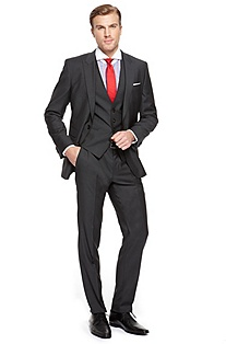 'Hold/Genius ' | Slim Fit, 3-Piece Wool-Blend Suit