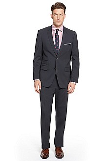 'Edison/Power' | Classic Fit, Stretch Wool-Blend Suit