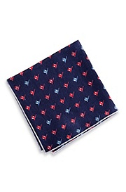 'Pocket Square' | Patterned Silk 33x33