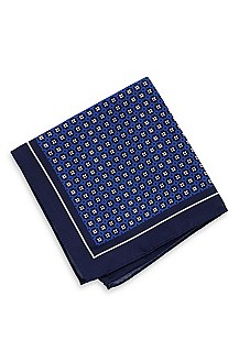 'Pocket Square 33x33' | Silk-Cotton Patterned Pocket Square