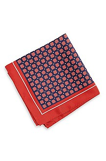 'Pocket Square 33x33' | Silk Patterned Pocket Square