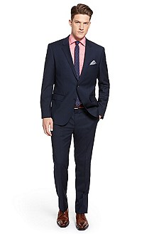 'Keys/Shaft' | Modern Fit, Virgin Wool Suit