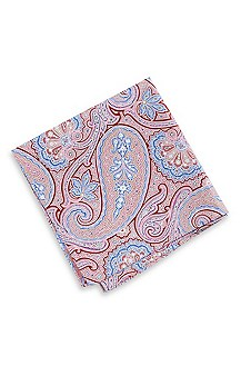 'Pocket Square' | Paisley Silk-Cotton 33x33