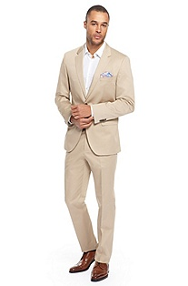 'The James/Sharp' | Modern Fit, Stretch Cotton Suit