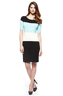 'Svelnas' | Knit Colorblock Dress