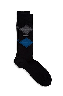 'RS Design US' | Cotton-Blend Diamond Socks