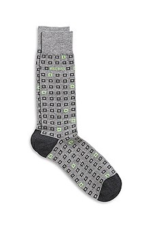 'RS Design US' | Cotton-Blend Square Print Sock