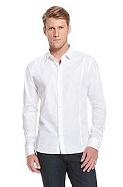 'Eneon ' |  Slim Fit, Stretch Cotton Casual Shirt