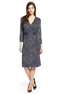 'E4730' | Jersey Printed Wrap Dress