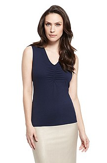 'E4720' | Ruched Front Jersey Top