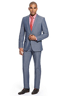 'Amaro/Heise' | Slim Fit, Stretch Cotton Suit