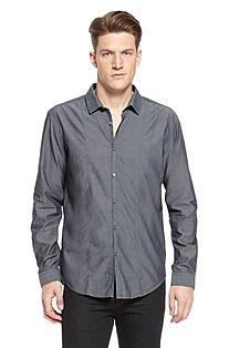'Pancho' | Slim Fit, Cotton Casual Shirt