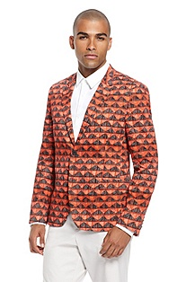 'Ambro' | Stretch Cotton Graphic Sport Coat